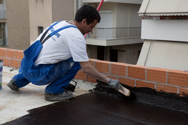 Terrace waterproofing with bituminous emulsions thrakon for Terrace waterproofing