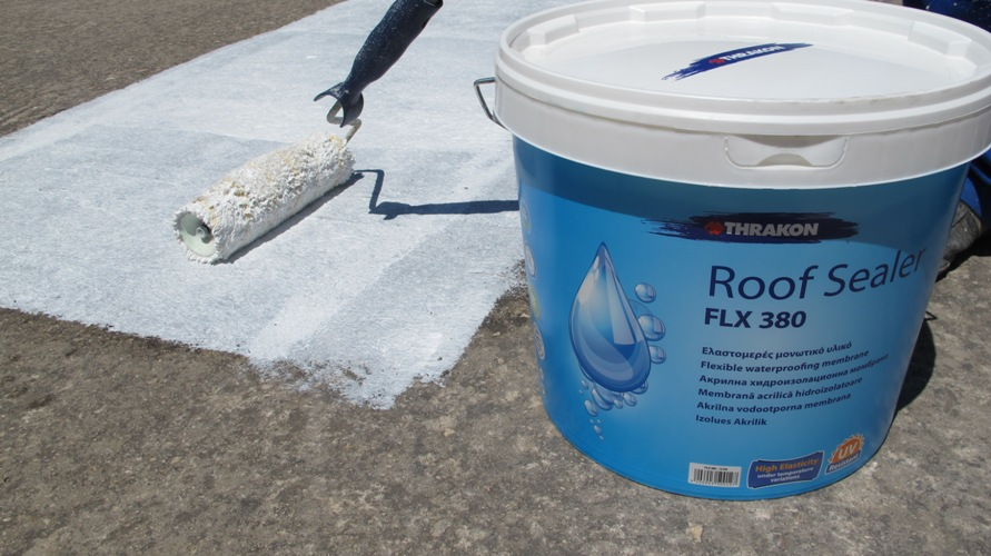 Terrace waterproofing with acrylic based membrane slopped for Terrace waterproofing
